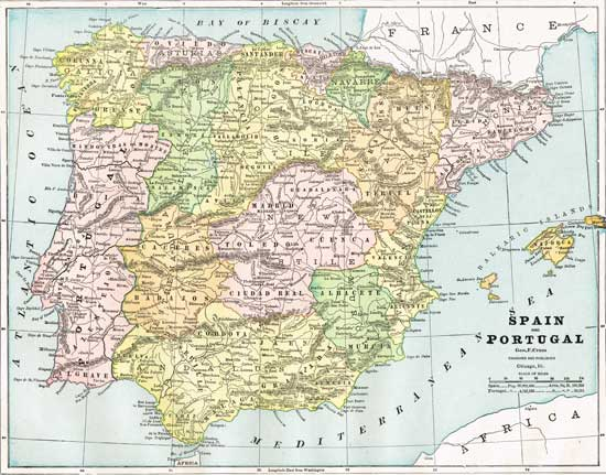 Mountains And Rivers of Spain Mountain Ranges Map of Spain